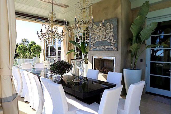 Outdoor Dining Lisa Vanderpump's Villa Rosa