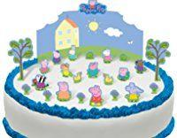 Cakeshop PRE-CUT Peppa Pig Edible Cake Scene - 24 pieces