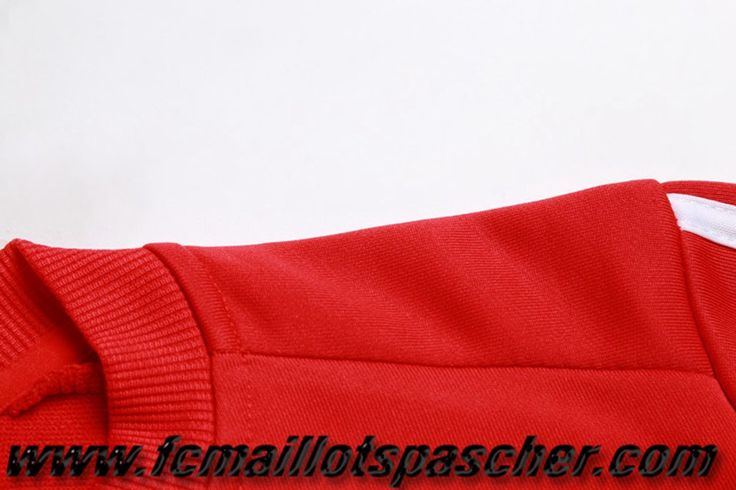 Homme Ensemble Survetement Adidas foot 2017 2018 Bayern Munich Rouge Replica