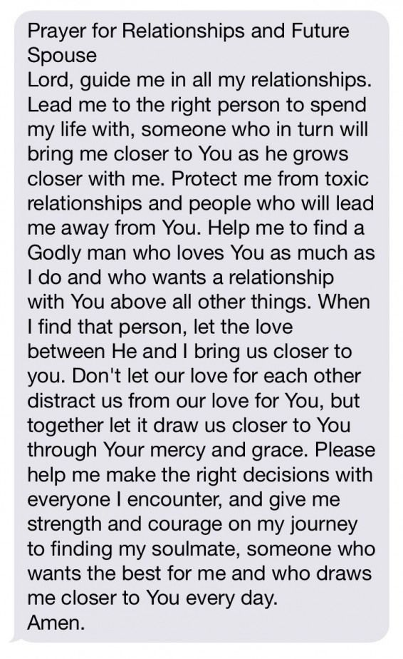 prayer for relationships and future spouse #relationship