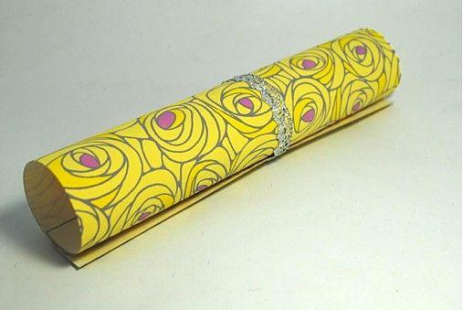 JaponskaZahrada / Handmade origami papier - Žlté ruže