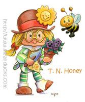 T.N. Honey-- she and her bee were characters that were in the books, but never made into dolls