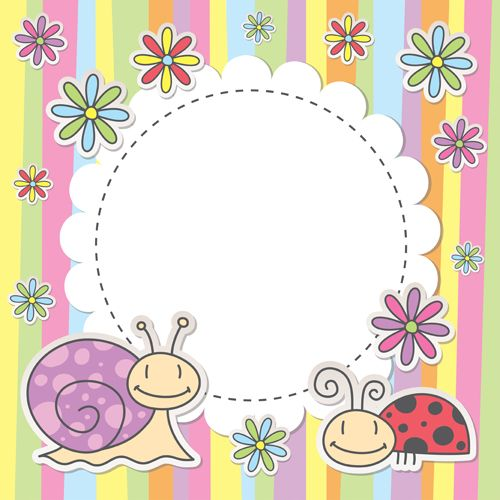 Cute baby backgrounds vector 04 - Vector Background free download