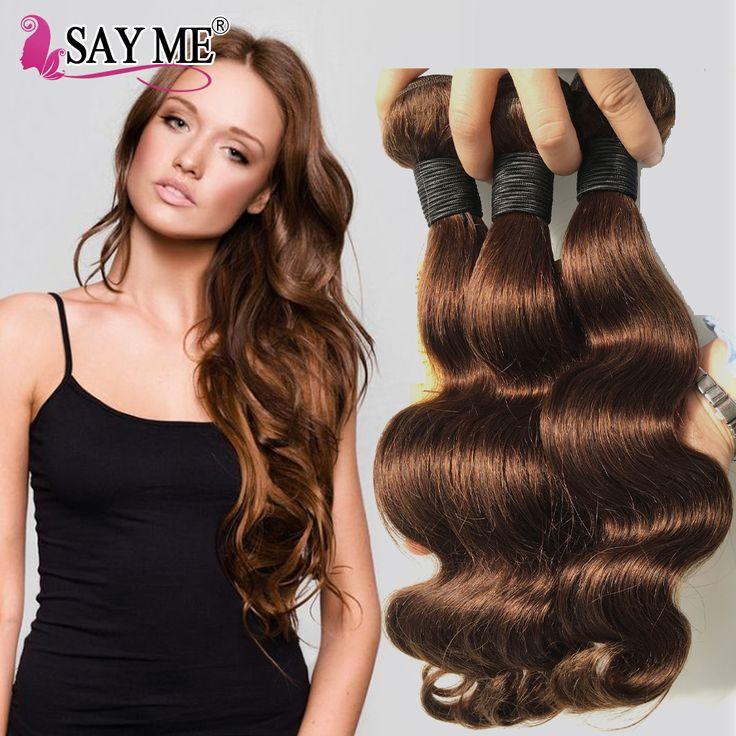 Color 2 4 Brazilian Body Wave Virgin Hair 3 Bundles Dark Brown Human Hair Extensions Brazilian Light Brown Hair Weave Bundles