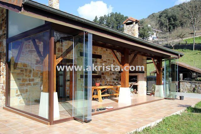 Porches acristalados con cortinas de cristal porches - Porches de madera cerrados ...