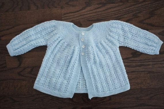 Baby girl knitted cardigan by Annyaknits on Etsy, $25.00
