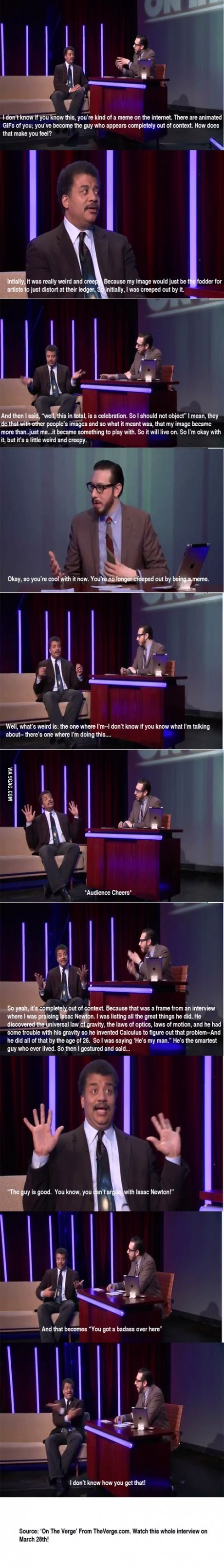 Dr. Neil deGrasse Tyson talks about being a Meme
