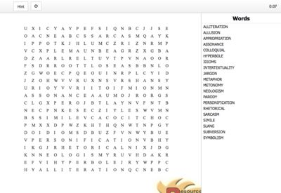 Word Search for GCSE English and GCSE Maths (various formats) from KazG1 from KazG1 on TeachersNotebook.com (5 pages)  - This resource contains a Word Search to help introduce vocabulary associated with GCSE English Language Features in Writing and General Maths Terminology.