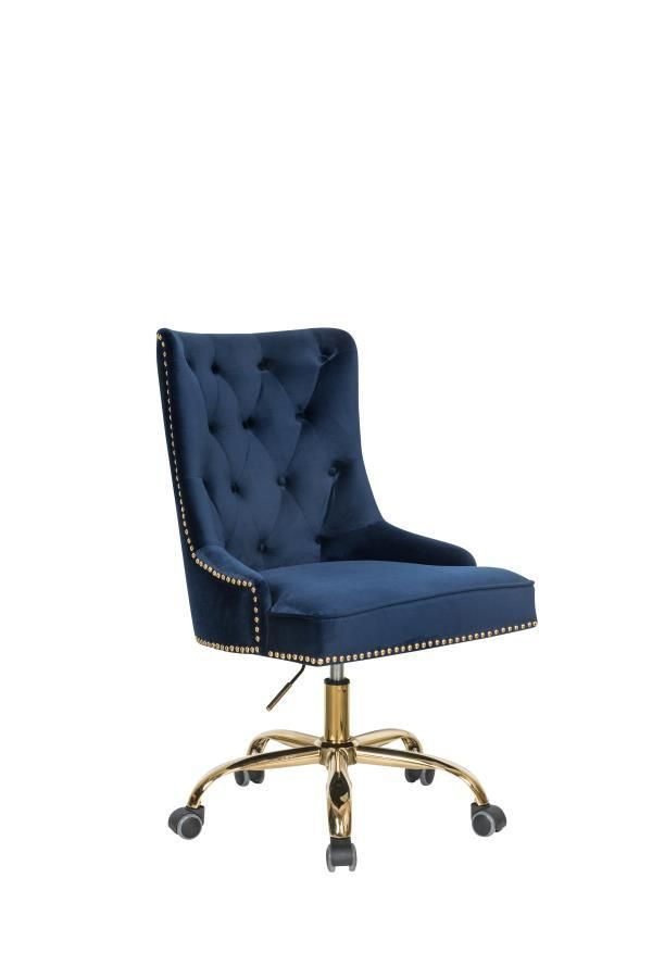 Superb Coaster 801984 Blue Velvet Office Chair Products In 2019 Pabps2019 Chair Design Images Pabps2019Com