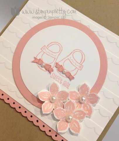 Stampin up stamp it pretty envelope liner framelits die big shot baby weve grown card  mary fish punch (2)