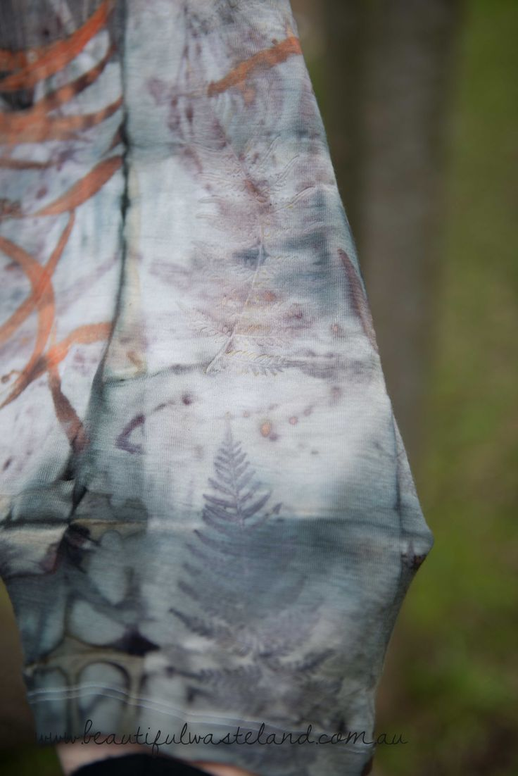 Beautiful prints on a merino wool singlet www.beautifulwasteland.com.au