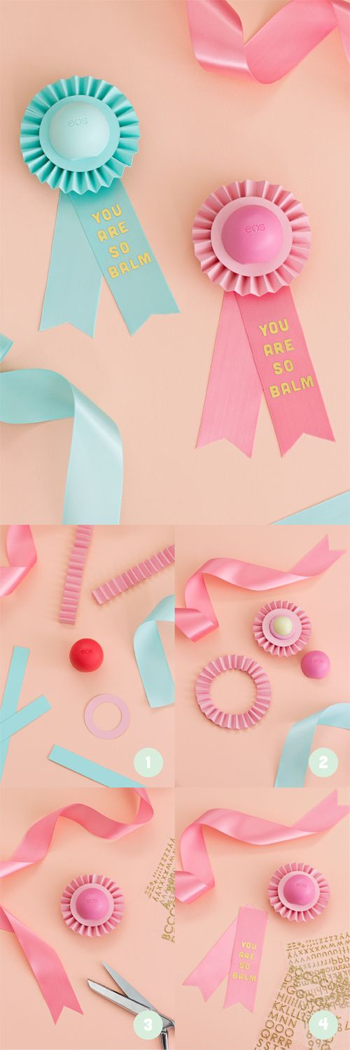 YOU ARE SO BALM, EOS Prize Ribbon Rosette for Teacher Appreciation Day | like-the-cheese.com