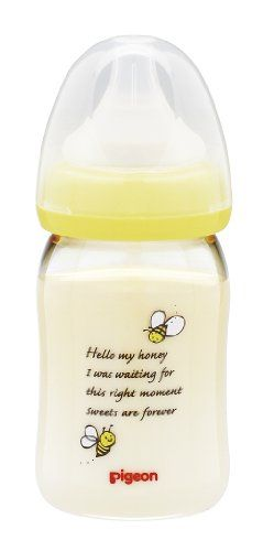 Pigeon Baby Bottles Plastic Honeybee 160ml by B Toys >>> Click image to review more details.Note:It is affiliate link to Amazon.