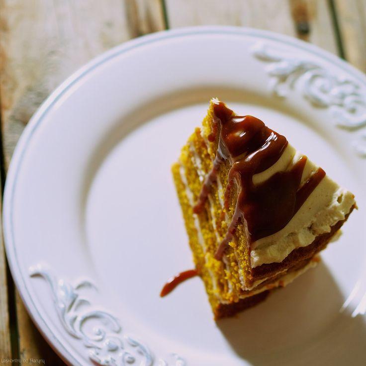 Laskominy od Maryny: Dýňový dort se smetanovým sýrem s pekanovými ořech...