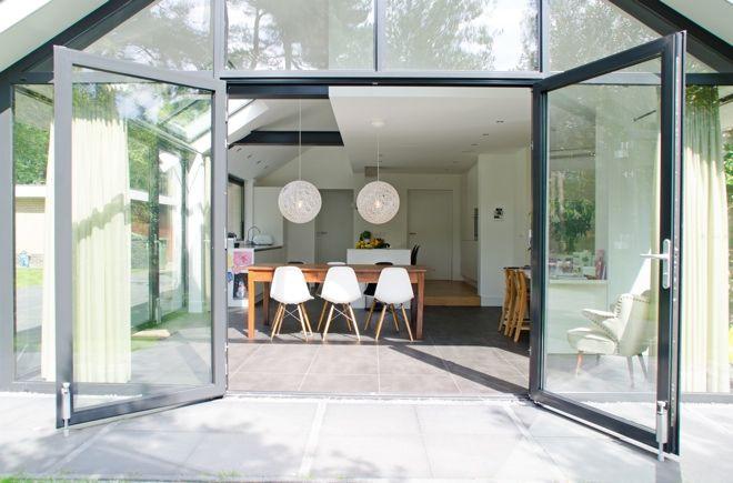 Aluminium kozijnen brede dubbele deur