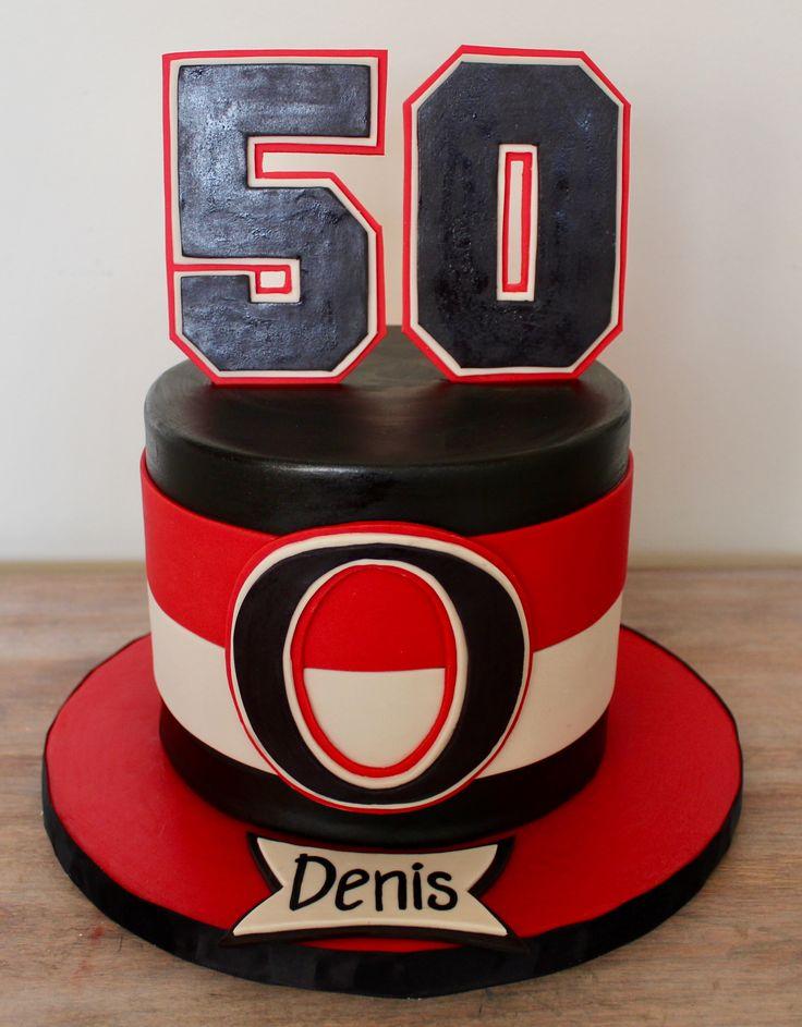 Ottawa Senators Sens cake NHL hockey 50th birthday cake