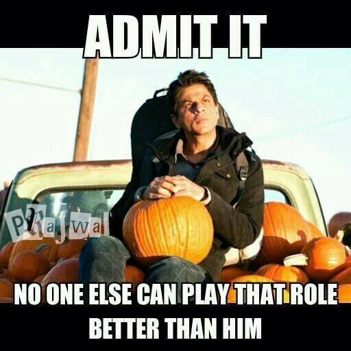 Admit it! Nobody can play that role better than him .... My Name Is Khan. #SRK