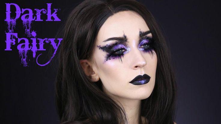 DARK FAIRY HALLOWEEN MAKEUP TUTORIAL | Spooky Avant Garde Makeup