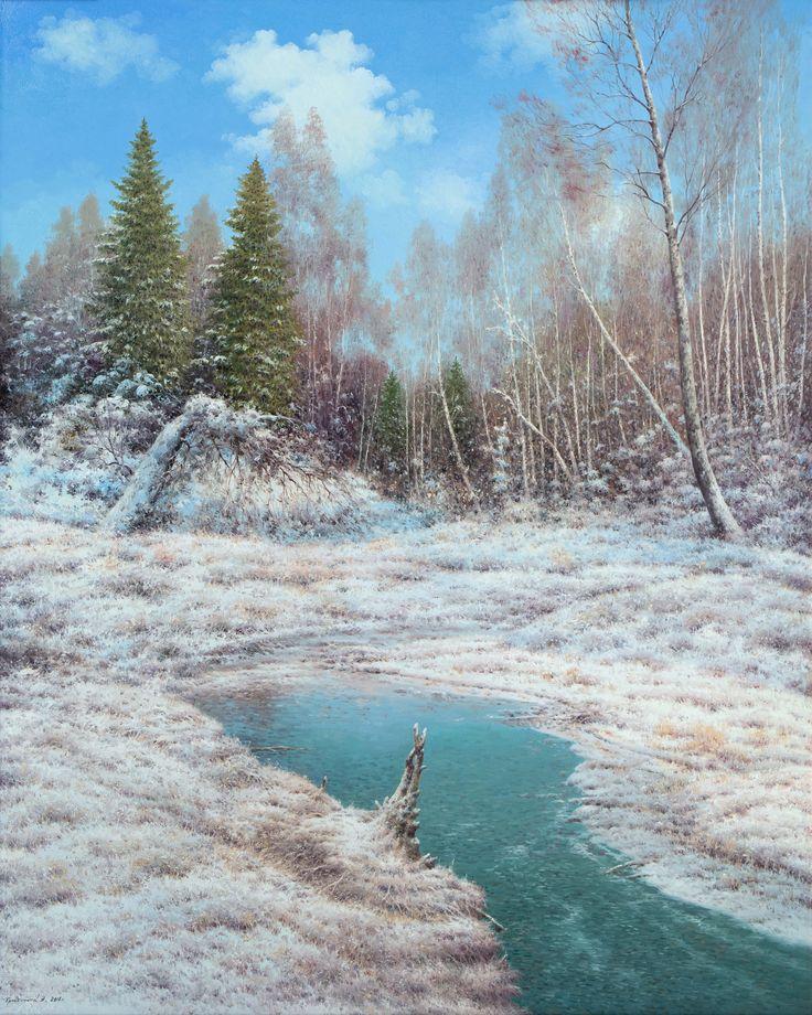 Vasily Gribennikov Winter forest, 100*80, 2016