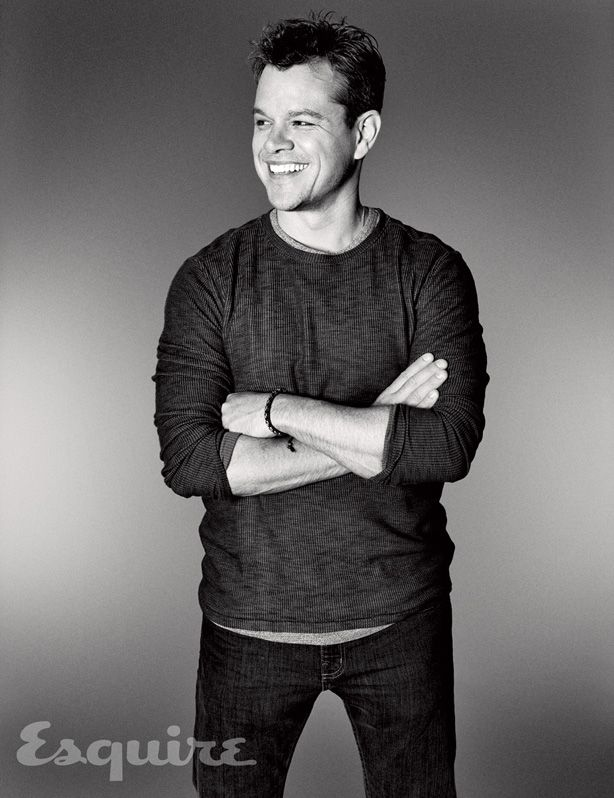 Matt Damon is Real...Interview for Esquire.  In a time when so many young actors and actresses are creating controversy with their questionable actions, showing poor character (ahem Bieber), I want to acknowledge those who worked for what they have and deserve every bit of success.  I will never envy these men, because they are an example of what hard work and determination will bring