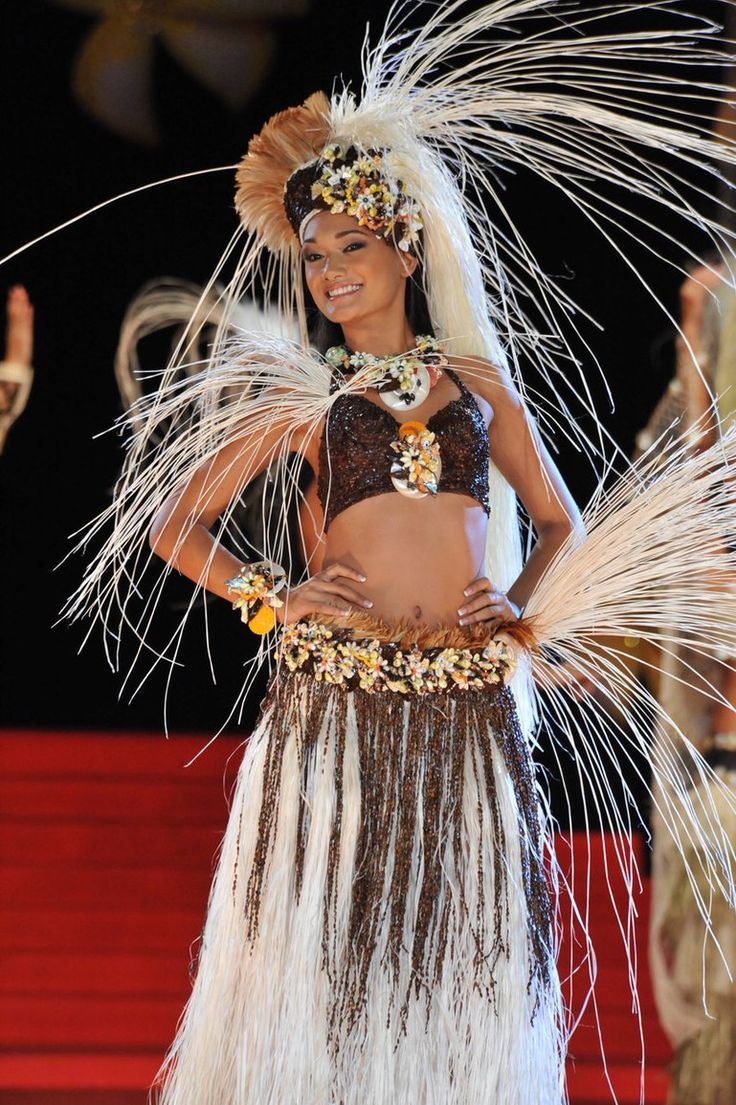 Miss Tahiti contestant winning first place in costume designed by my Auntie Myrna.