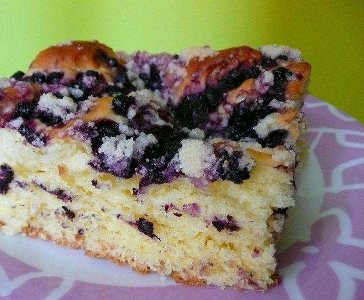 Przepis Ciasto drożdżowe z jagodami przez AngelinaK - Widok przepisu Słodkie wypieki