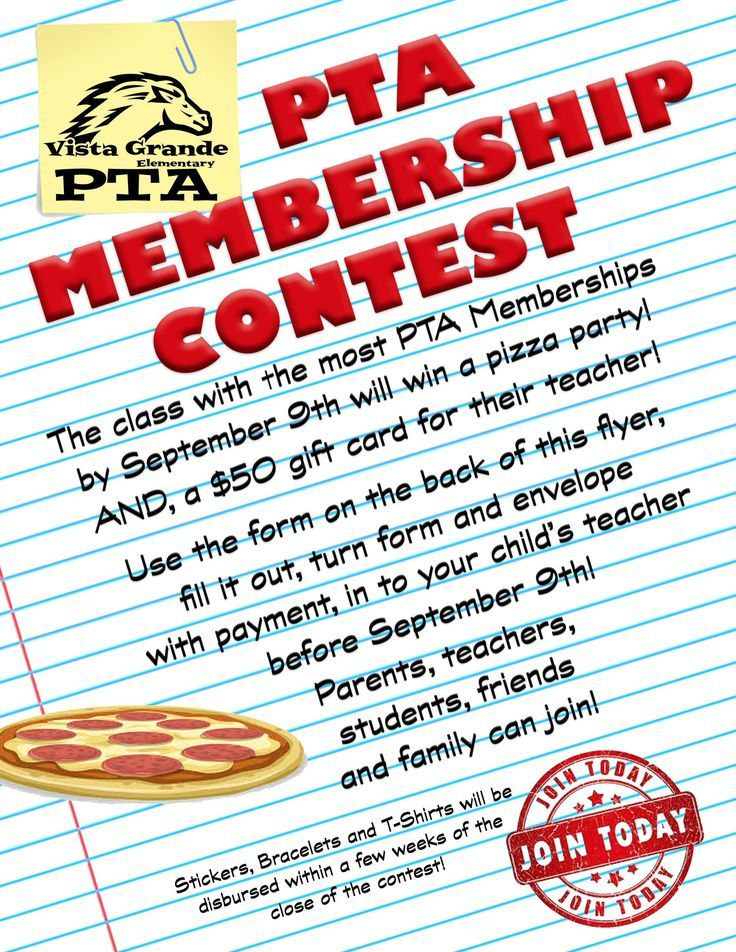 Vista Grande On Twitter Pta Fundraising Pta Membership Pta Membership Drive