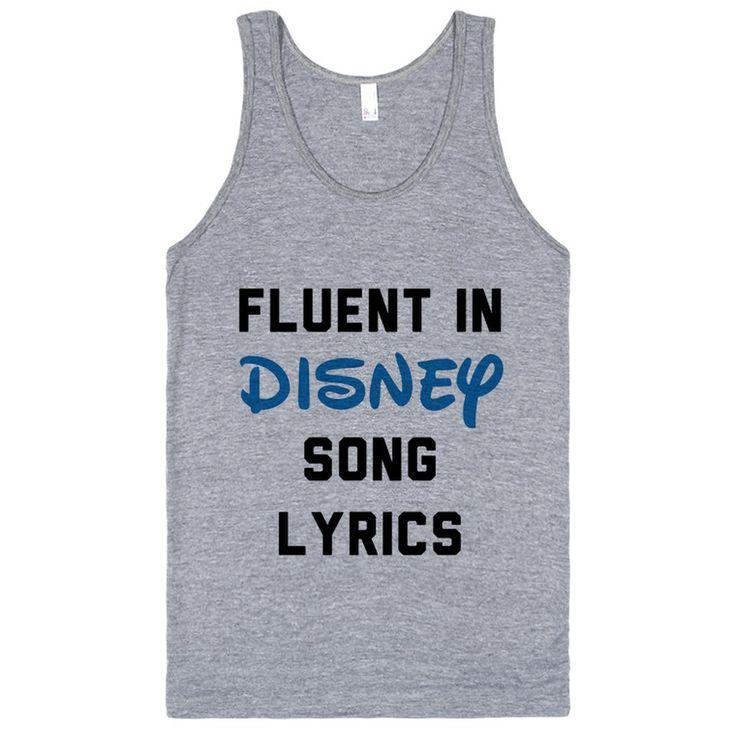 Fluent In Disney Song Lyrics
