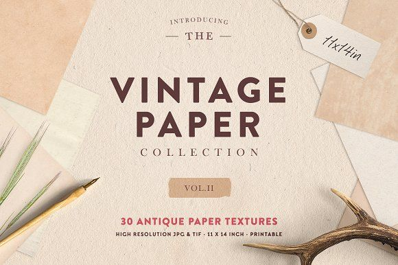 The Vintage Paper Collection Vol.02 by Greta Ivy on @creativemarket