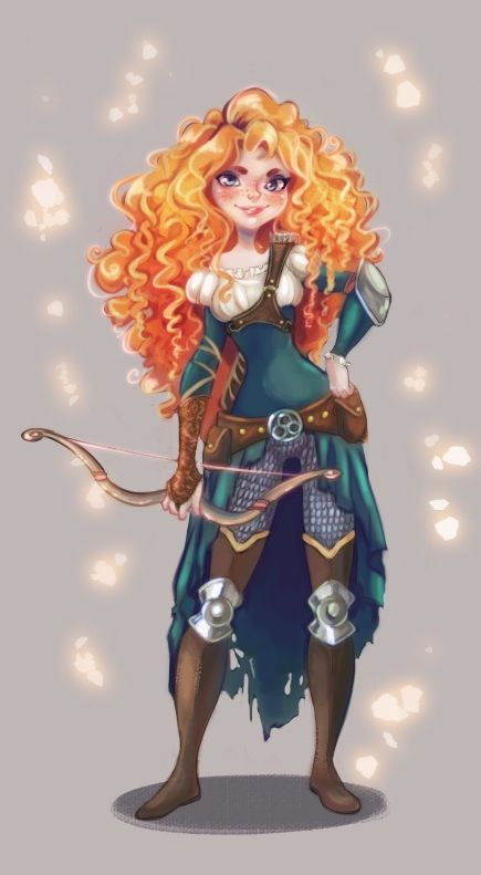 Warrior Merida. although in the movie shes right handed and how the arm guard is on her right forearm she would have to be left handed...