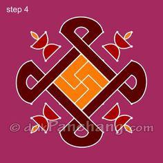 This page provides Dot Rangoli Designs with title Dot Rangoli 24 for Hindu festivals.