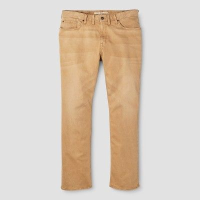 Men's Big & Tall Straight Fit Jeans - Mossimo Supply Co. Khaki 48x34, Beige