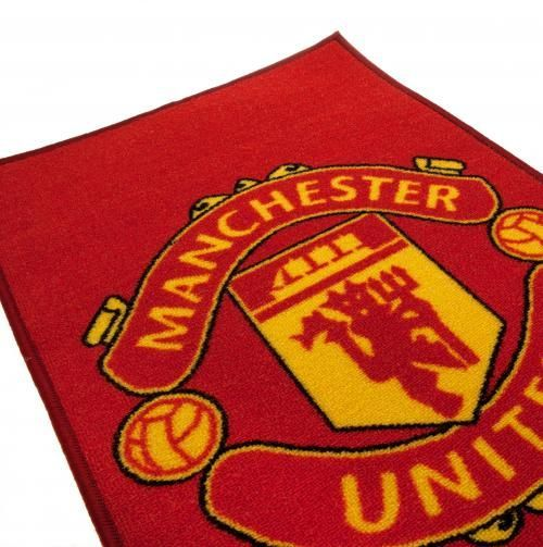 Machine washable Manchester United rug in club colours and featuring a large image of the club crest. Great for kid's bedrooms. FREE DELIVERY on all of our gifts