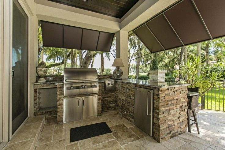 Traditional Porch with Pental - Lappidus Polished Granite Slab, Outdoor kitchen, Wrap around porch, exterior tile floors
