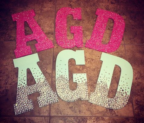 1000+ ideas about Decorated Sorority Letters on Pinterest ...