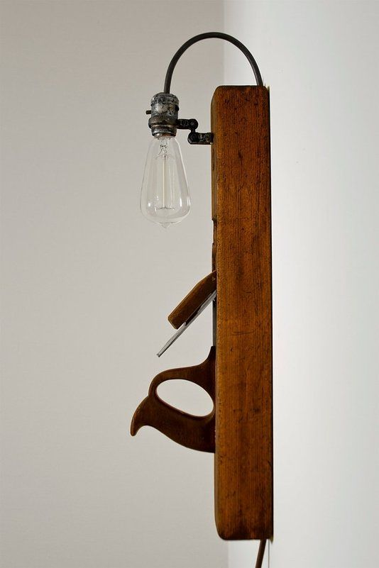 светильник из старого рубанка
