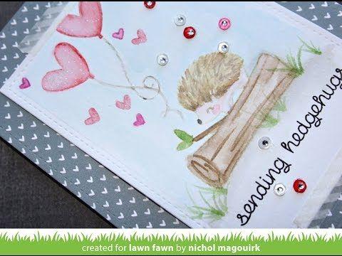 nichol magouirk: Lawn Fawn | Distress Marker Watercolor Card (video)