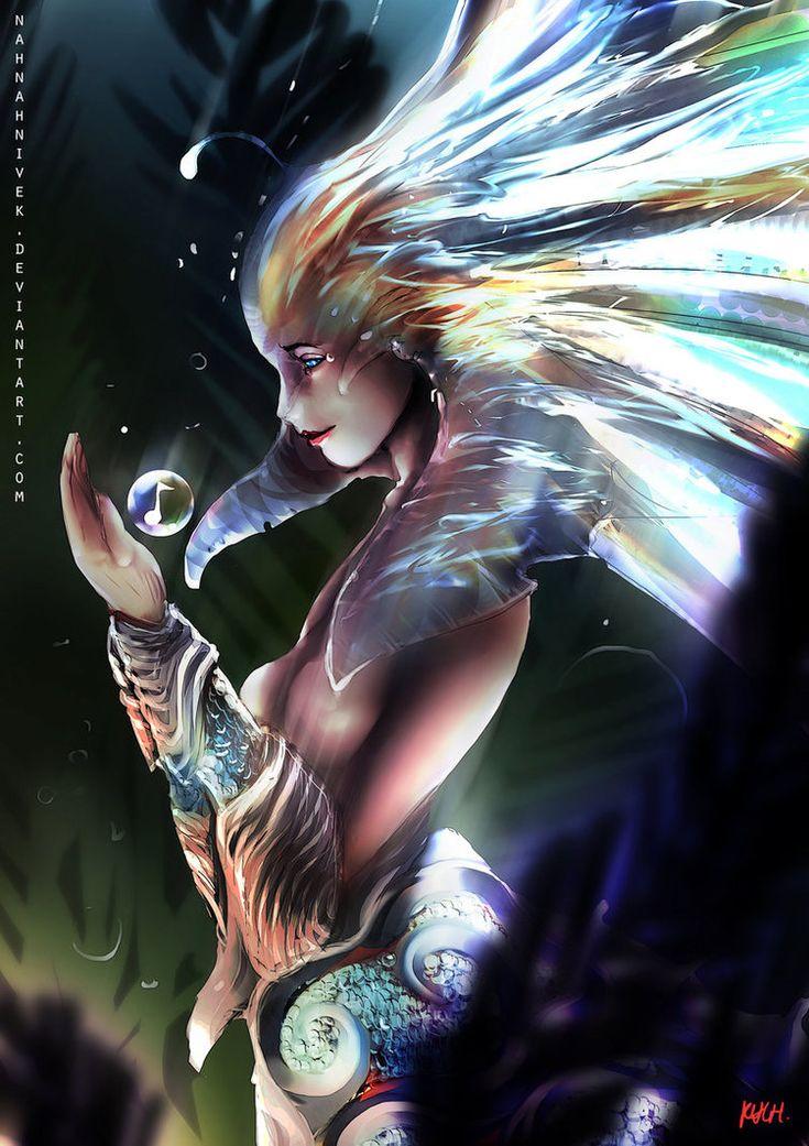 Dota 2 - Little Naga Siren by nahnahnivek on deviantART