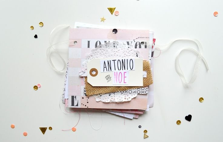 Antonio and Noe by Martu at @studio_calico #studiocalico #minibook #minialbum #Scrapbook