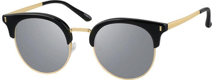 Black Premium Browline Sunglasses #11327 | Zenni Optical Eyeglasses