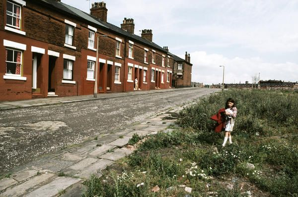 Row houses, Manchester, England, United Kingdom, 1977, photograph by John Bulmer.