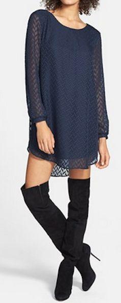 textured chevron shift dress http://rstyle.me/n/vd6j2pdpe