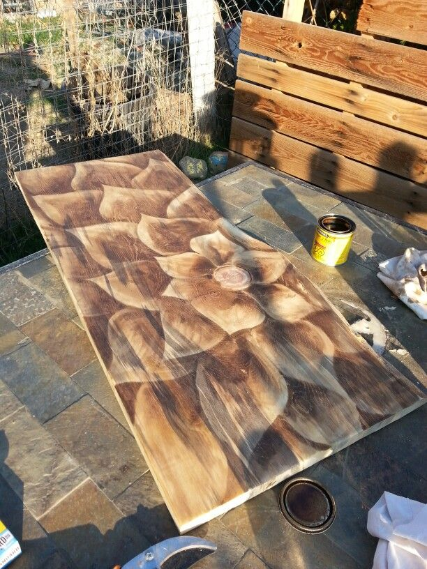 Stain art by Tiffany Pare diy