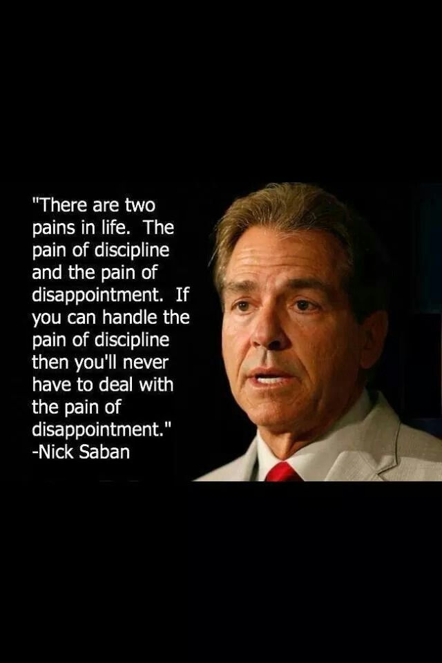 Nick Saban Head coach for Alabama
