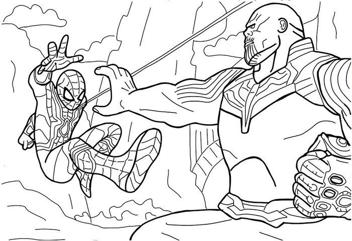 Spiderman Thanos Avengers Coloring Pages Avengers Coloring Pages Detailed Coloring Pages Lego Coloring Pages