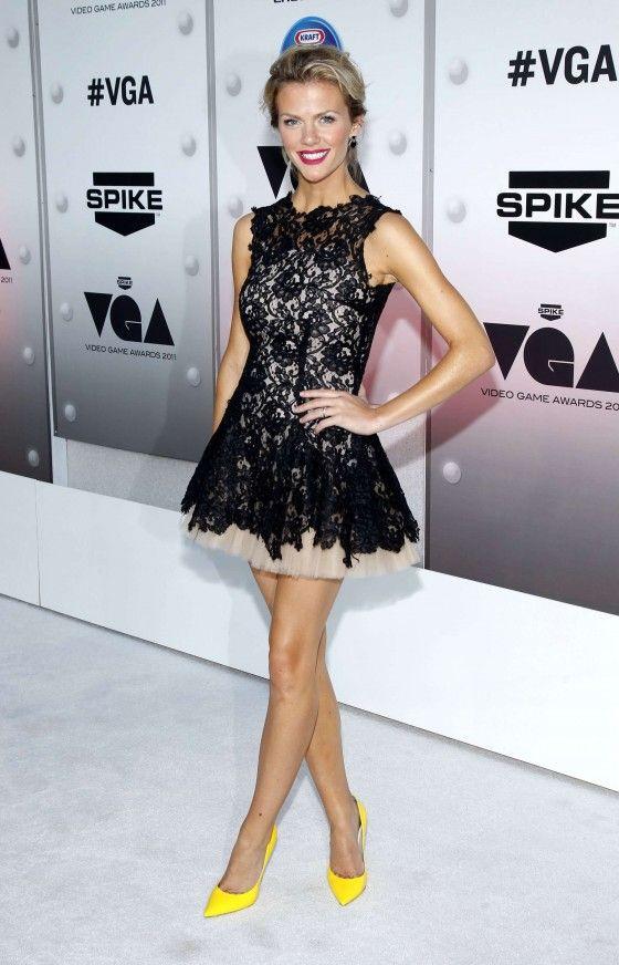 Brooklyn Decker Black Lace Mini Dress Spike TV's '2011 Video Game Awards'