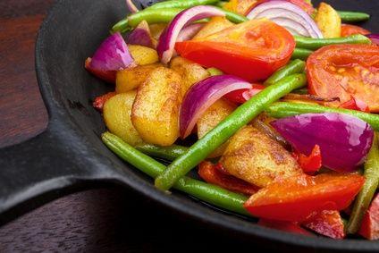 Griechische Bohnen mit Kartoffeln