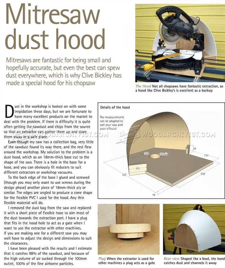 #87 Miter Saw Dust Hood - Miter Saw Tips, Jigs and Fixtures