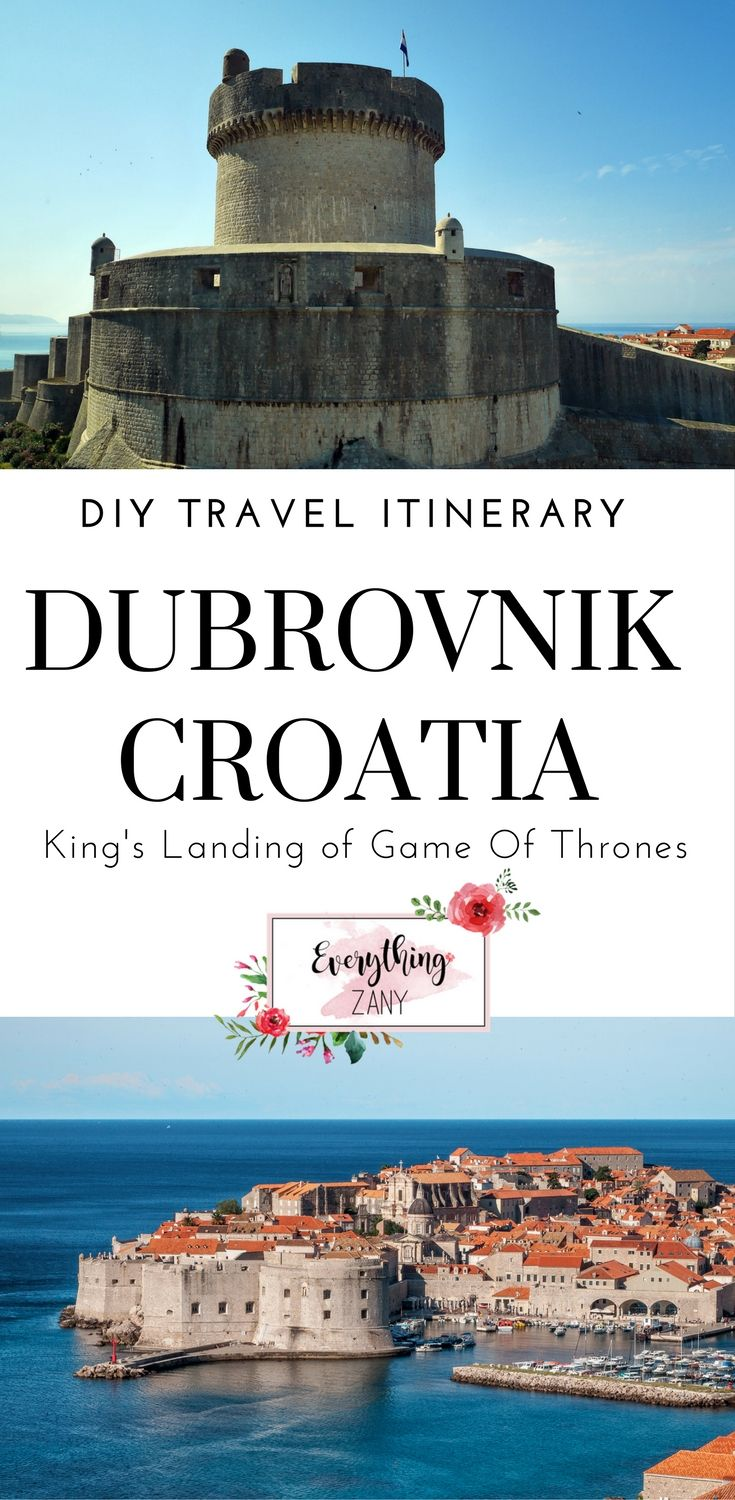 DIY Travel Itinerary to Dubrovnik, Croatia (King's Landing of Game of Thrones) | Dubrovnik, Croatia is a charming medieval town along the Dalmatian coast.    When you see Dubrovnik you'll know why they call it the Pearl of the Adriatic. Back in the 14th to 19th centuries, Dubrovnik had been an independent state called the Republic of Ragusa.