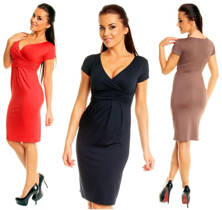 Summer Short Sleeve Stretchy Jersey Casual Pencil Dress UK 8-28  573 #ZetaVilleFashion #Pencil #Casual
